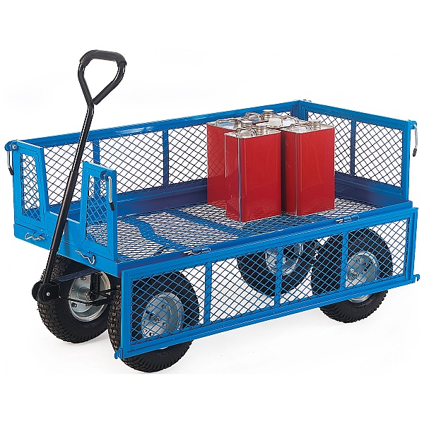 Platform Truck With Mesh Sides