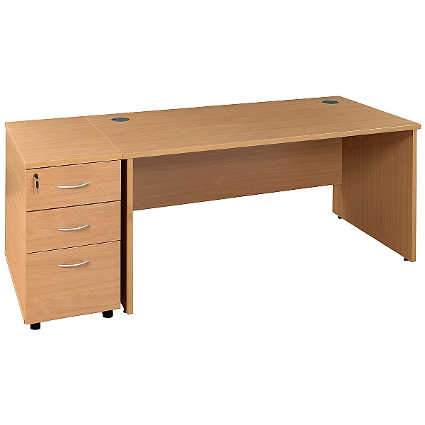 Rectangular Panel End Desks With Desk High Pedesta