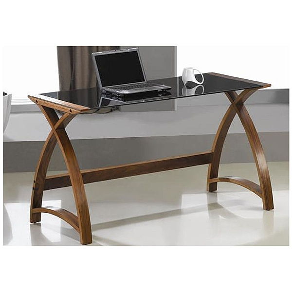Spectrum Walnut Real Wood Veneer Laptop Desk
