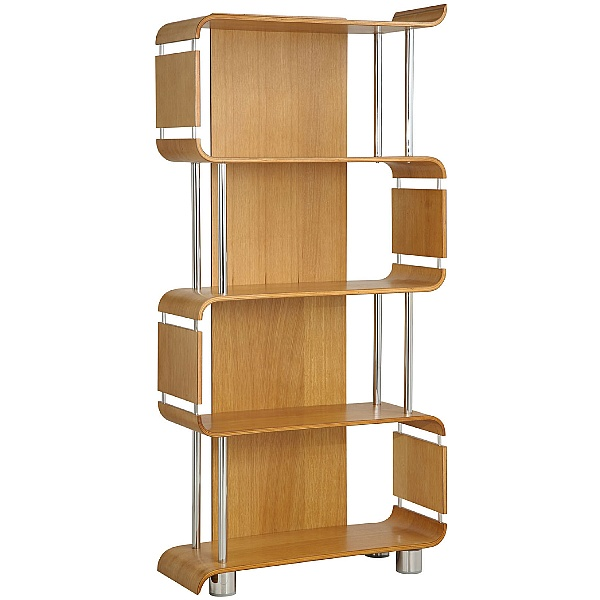 Spectrum Oak Real Wood Veneer Bookcase