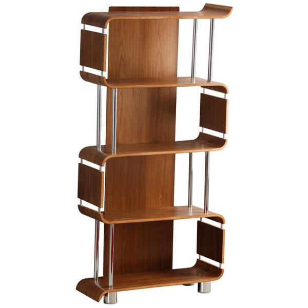 Spectrum Walnut Real Wood Veneer Bookcase
