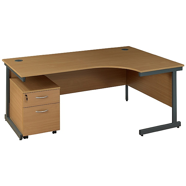 NEXT DAY Solar Ergonomic Cantilever Desks With Mobile Pedestal