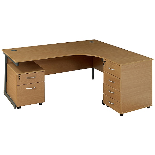 NEXT DAY Solar Ergonomic Cantilever Desks With Desk High & Mobile Pedestal