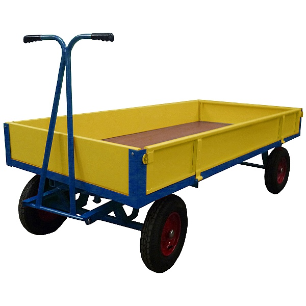 Heavy Duty Steel Sided Hand Drawn Truck