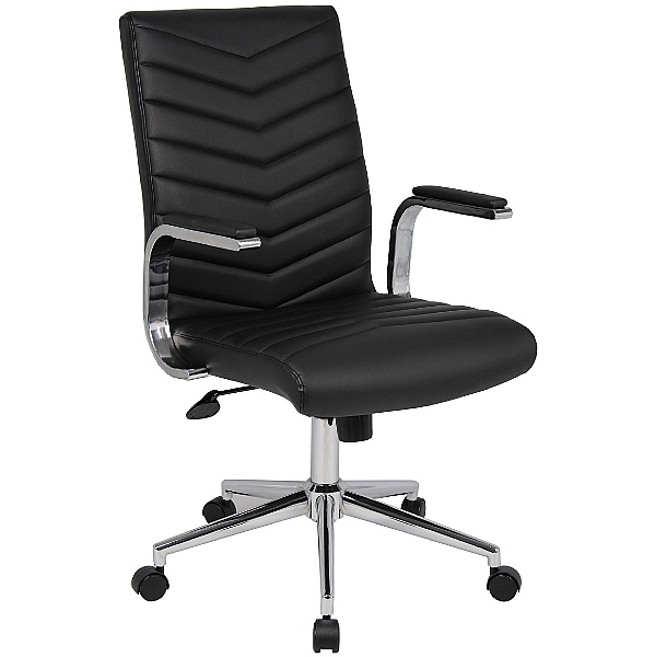 Martini Leather Faced Executive Chair