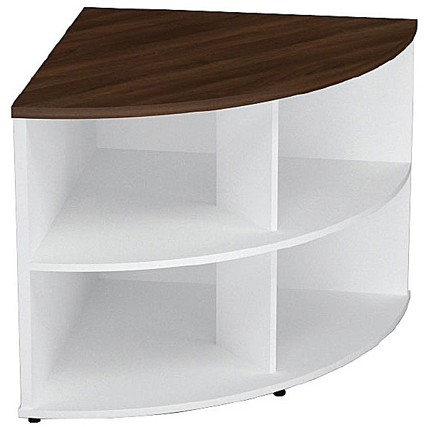 Presence Desk High Corner Bookcase