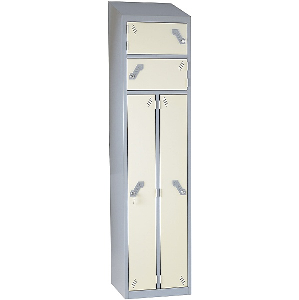 Fully Welded Sloping Top Siamese Lockers