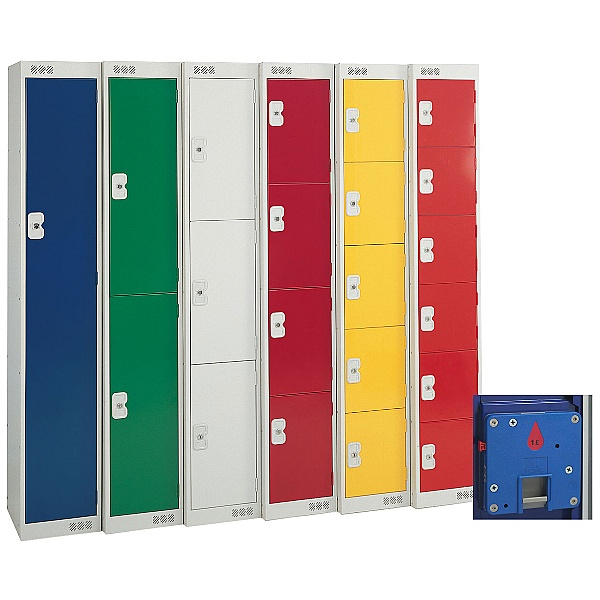 British Standard Metric Coin Return Lockers With BioCote