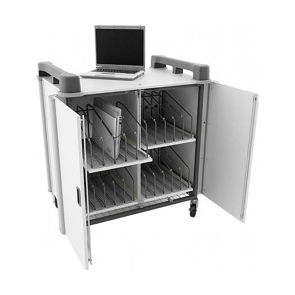 LapCabby Connect 20V - 20 Vertical Laptop Store and Charging Trolley