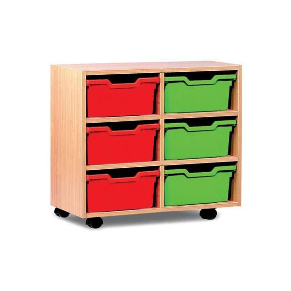6 Cubby Tray Storage