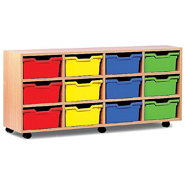 12 Cubby Tray Storage
