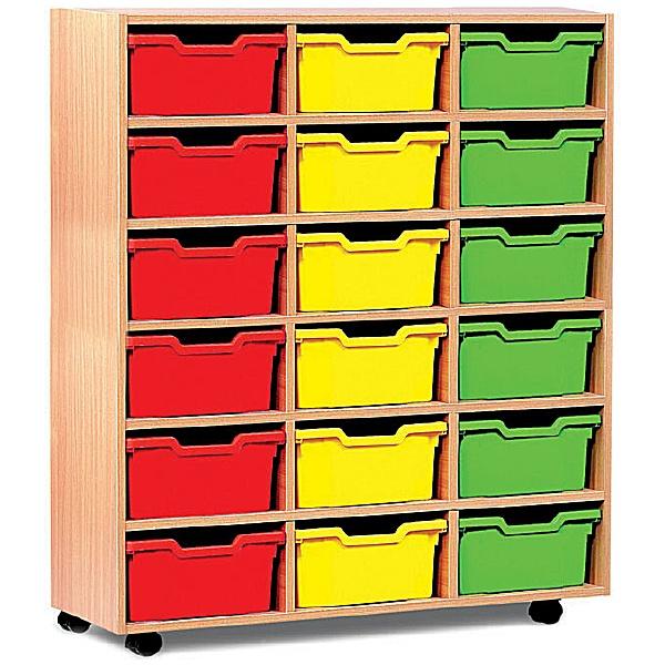 18 Cubby Tray Storage