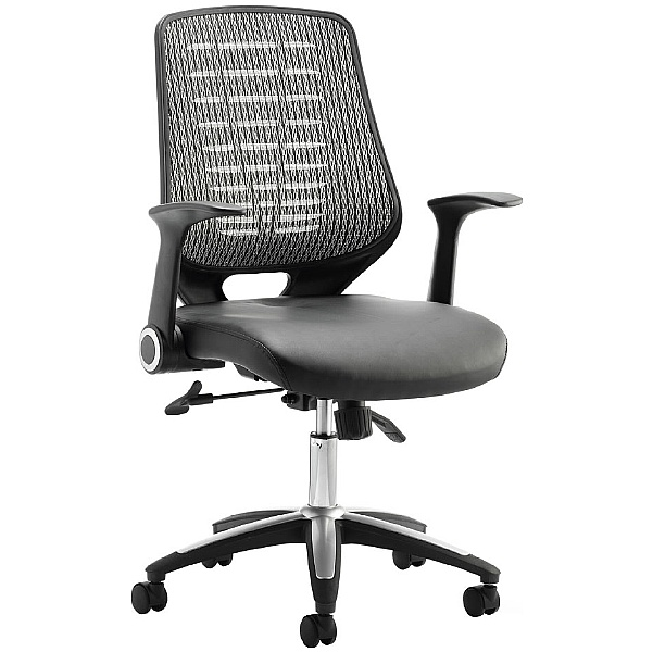 Baton Leather & Mesh Office Chair
