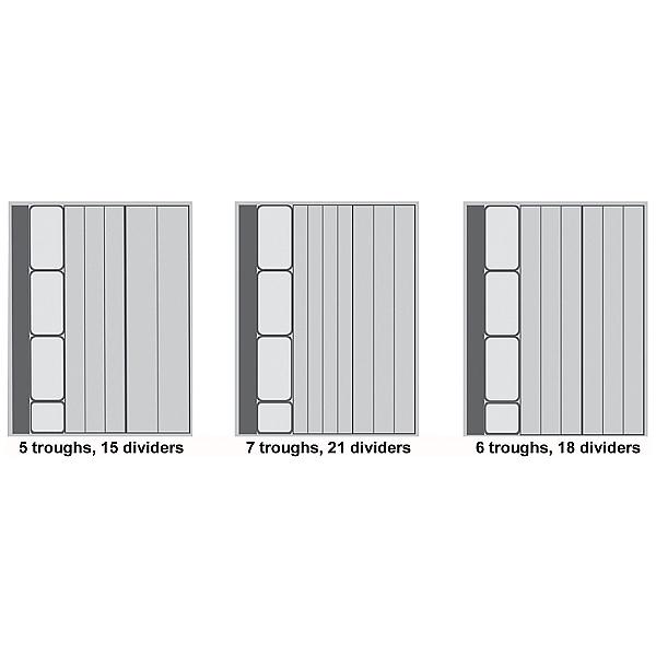Bott Cubio Drawer Cabinets 525W x 650D Plastic Troughs