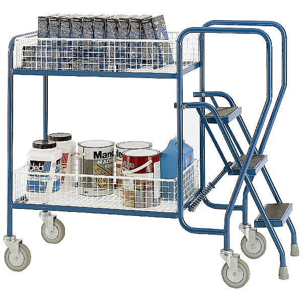 Steptek 2 Tier Heavy Duty Step Tray Trolleys