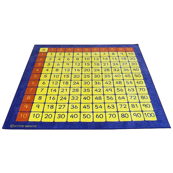 Multiplication Grid Carpet