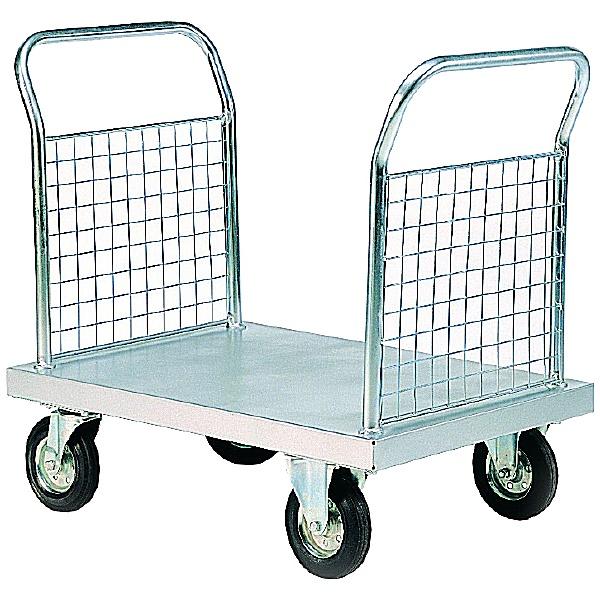 700 Series - Bright Zinc Plated Series Platform Truck Double Mesh End