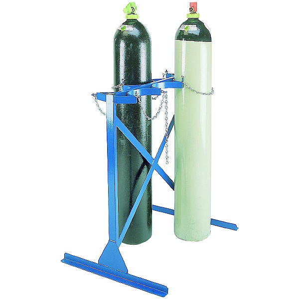 Double Sided Floor Fixed Cylinder Rack