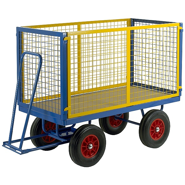 Medium Turntable Truck with Mesh Cage Supports