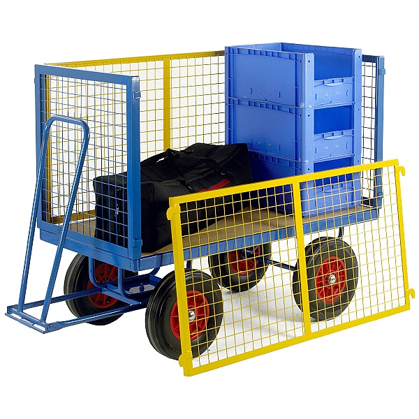 Large Turntable Truck with Mesh Cage Supports