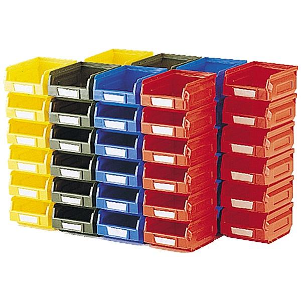 Bott Perfo Louvred Panel Plastic Bin Kits - 48 Bins