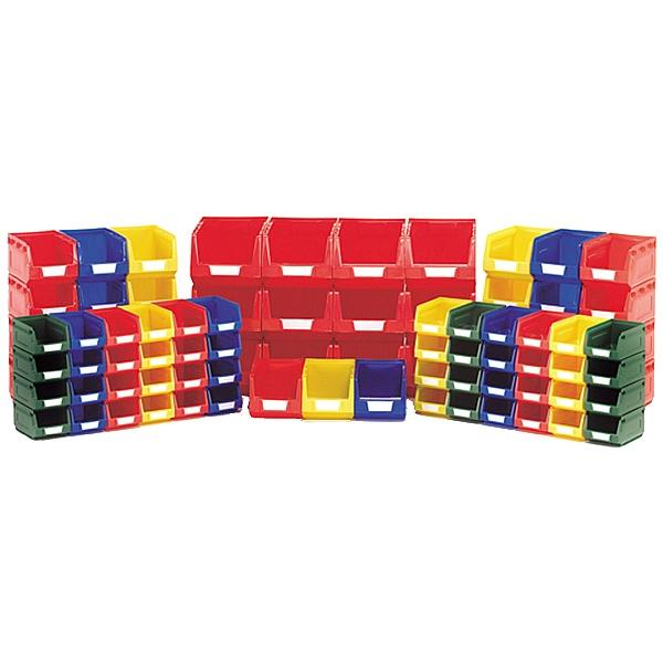 Bott Perfo Louvred Panel Plastic Bin Kit D