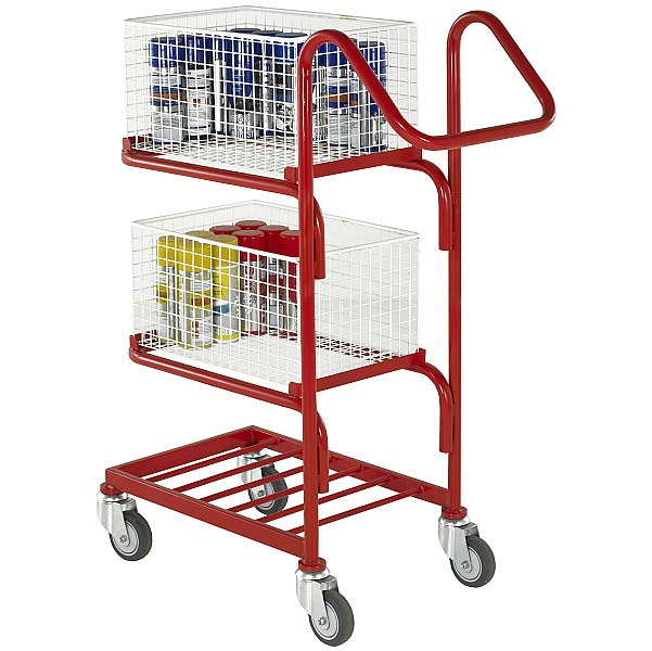3 Tier Basket and Tray Trolley