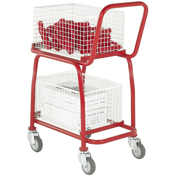 2 Tier Basket and Tray Trolley