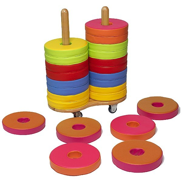 24 Donut Floor Cushions & Trolley