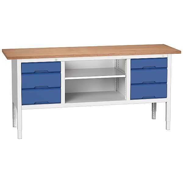 Bott Verso Storage Benches - 2000mm With 6 Drawers