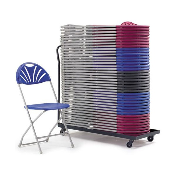 Fan Back Folding Chair Trolley