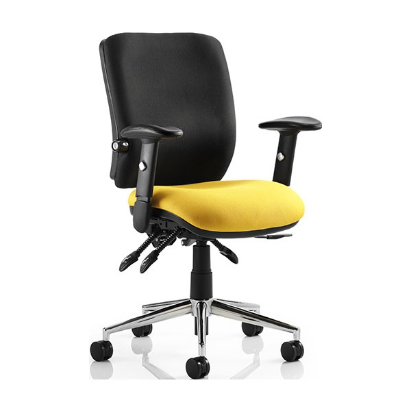 Vital Colour 24Hr Ergonomic Medium Back Chair