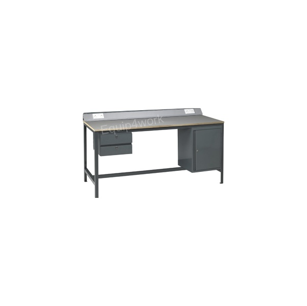 Redditek Heavy Duty Electrical Engineering Workbench with Rear Lip