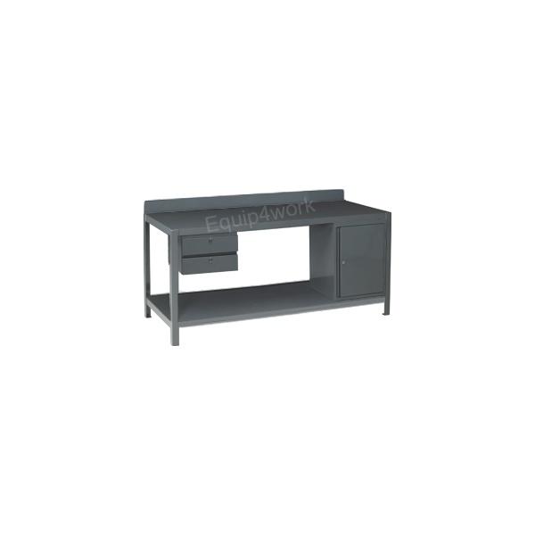 Redditek Extra Heavy Duty Engineering Workbench with Shelf and Lip