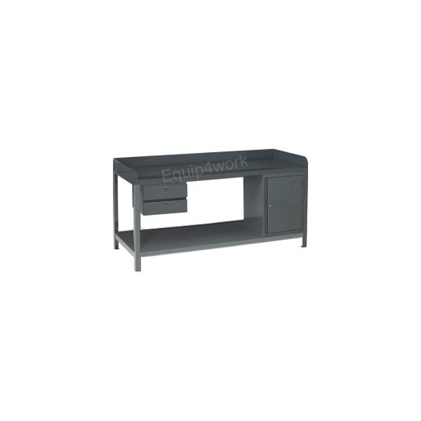 Redditek Extra Heavy Duty Engineering Workbench with Shelf and Skirt