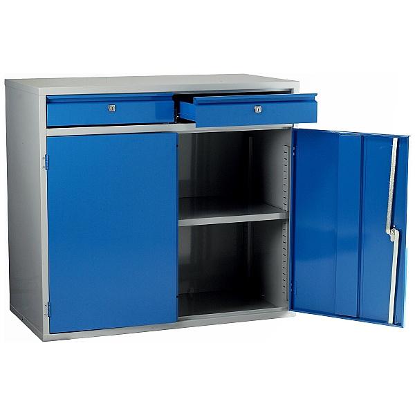 Redditek Euro 900 Double Door Floor Cabinet with Drawers