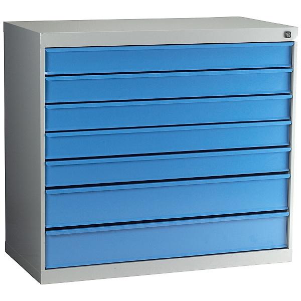 Redditek Wide Euro 900 7 Drawer Floor Cabinet