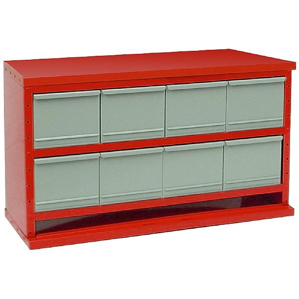 Redditek 'D' Series Open Large 8 Drawer Cabinet