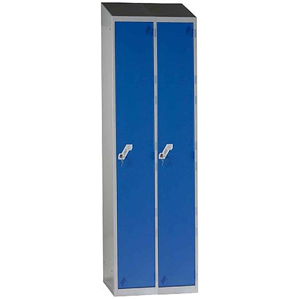 Fully Welded Narrow Sloping Top 1 Door 2 Nest Lockers