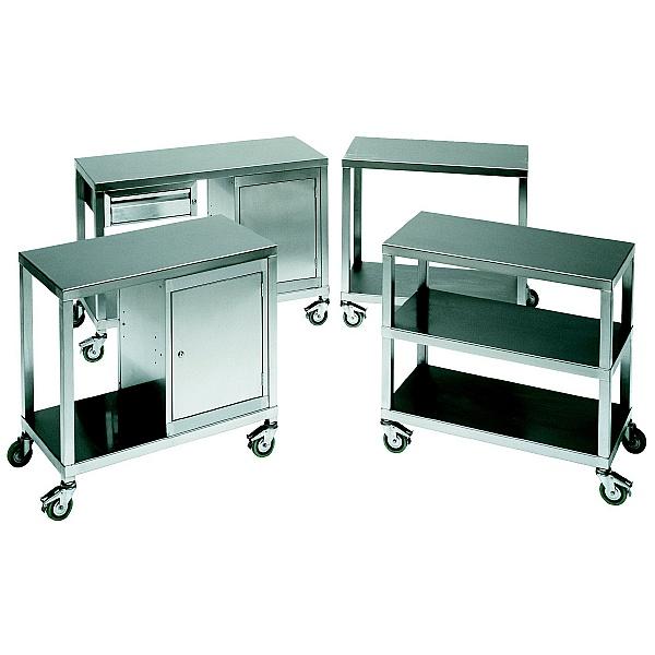 Heavy Duty Stainless Steel Shelf Trolleys
