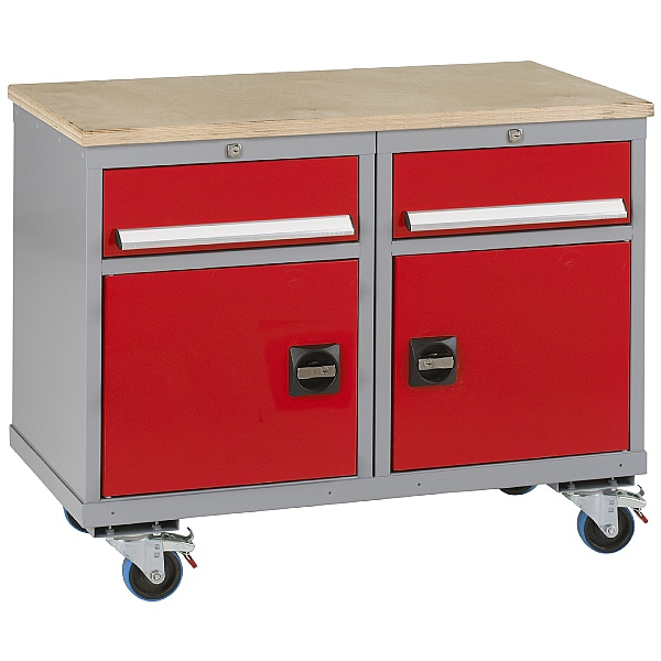 Premier Trolleys 2 Cupboards 2 Drawers