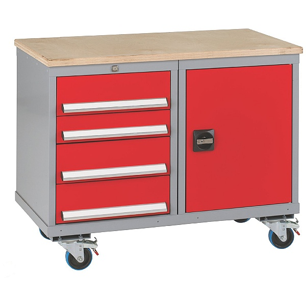 Premier Trolleys 1 Cupboard 4 Drawers