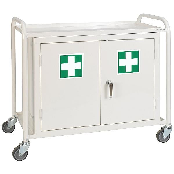 Double Door Cupboard Medical Trolley