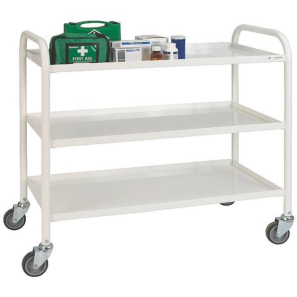 3 Shelf Medical Trolley