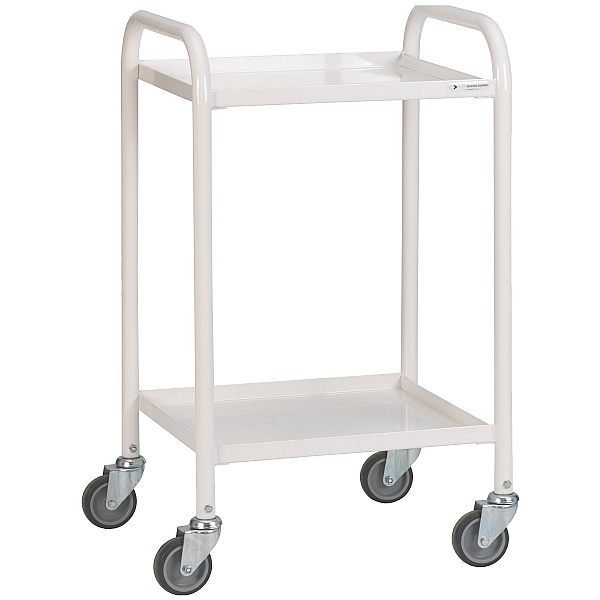 2 Shelf Narrow Medical Trolley