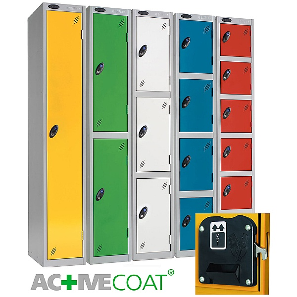 Premium Coin Return Lockers With Activecoat