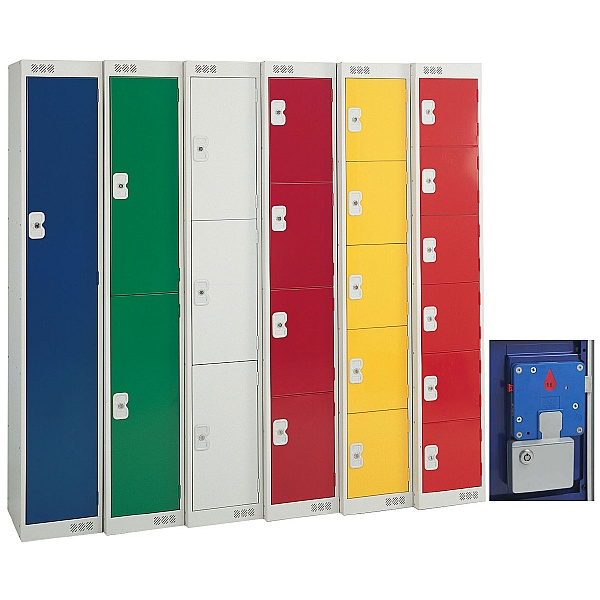British Standard Metric Coin Retain Lockers With Biocote
