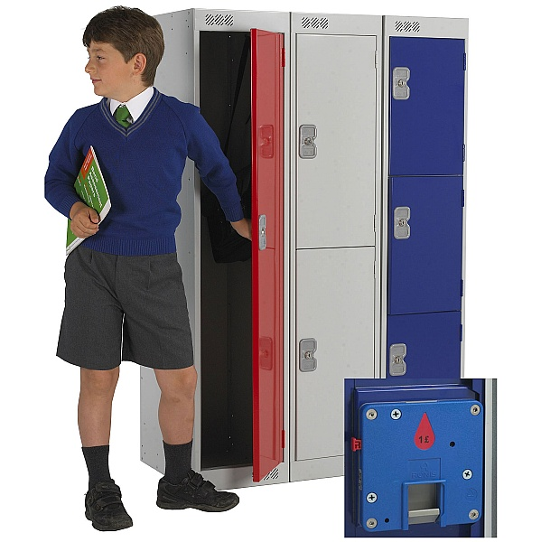Primary Coin Return Lockers With Biocote