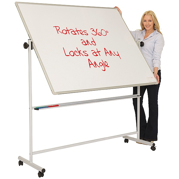 Ultralon Mobile Non-Magnetic Swivel Teaching Whiteboards