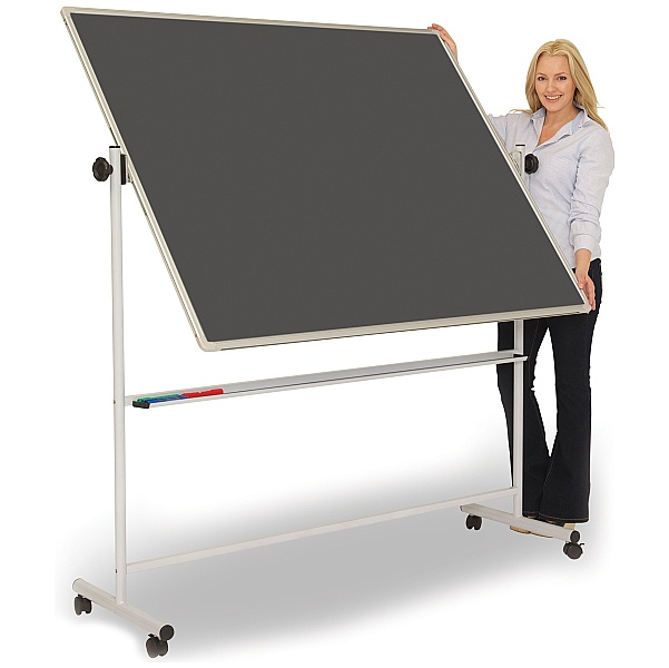 Ultralon Mobile Chalk Swivel Teaching Whiteboards